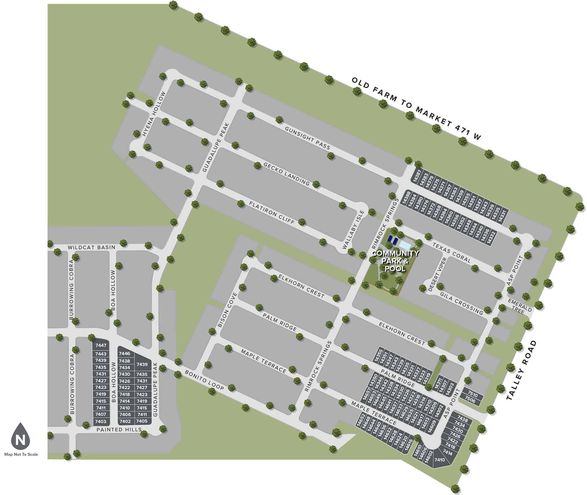 Trails at Culebra site map