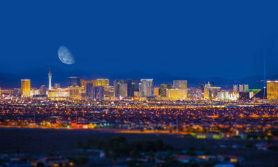 Las Vegas Strip and Moon